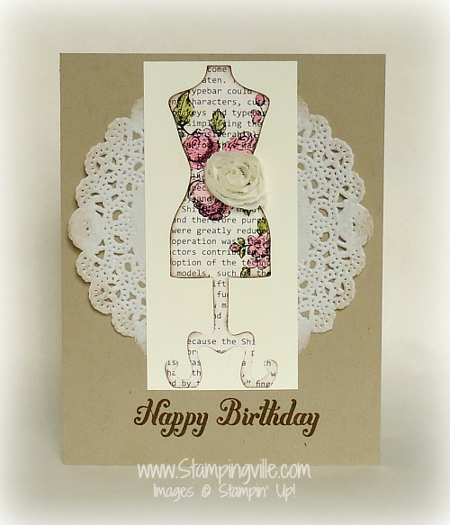 Dolled up birthday card