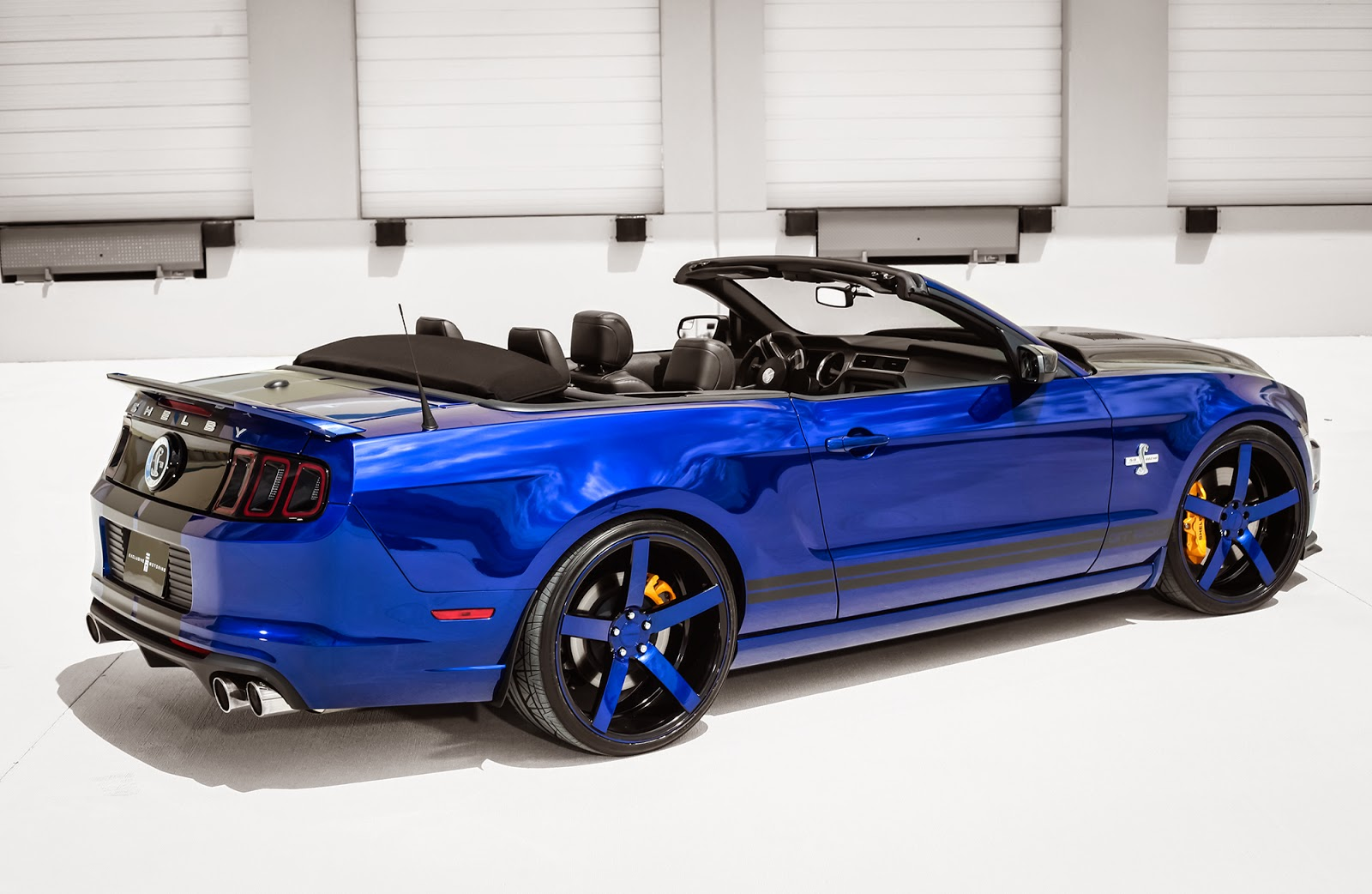 exclusive motoring ford mustang shelby gt500 convertible on vossen wheels