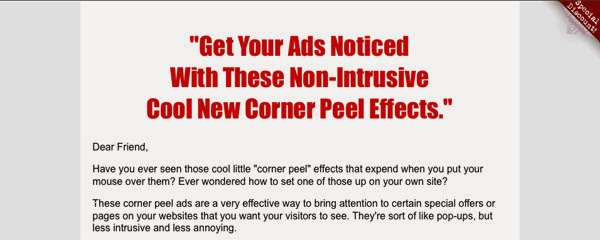 The Small Ad Corner Peel Preview