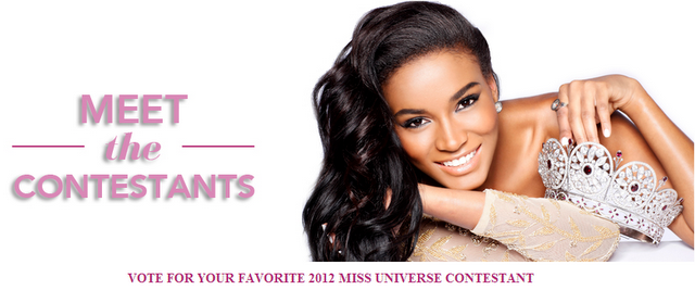 How to Vote online in Miss Universe 2012