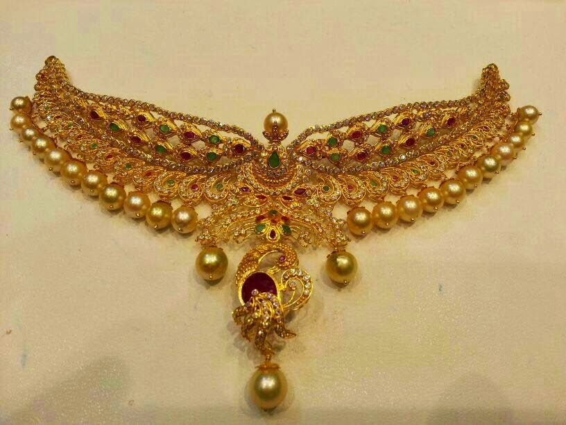 Uncut Diamond Necklace Sets With Price 22 Carat Gold Uncut Diamond Choker Jewellery Necklace Studded With Small