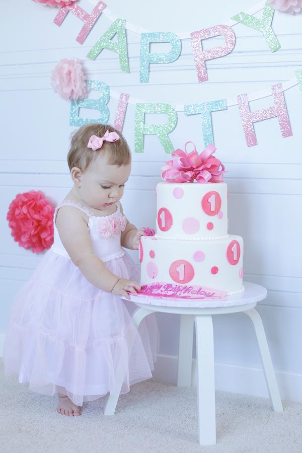 1st birthday ideas baby girl image inspiration of cake for Baby girl first birthday decoration ideas