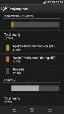 Swap Memory External menjadi Memory Internal di Sony Xperia SP
