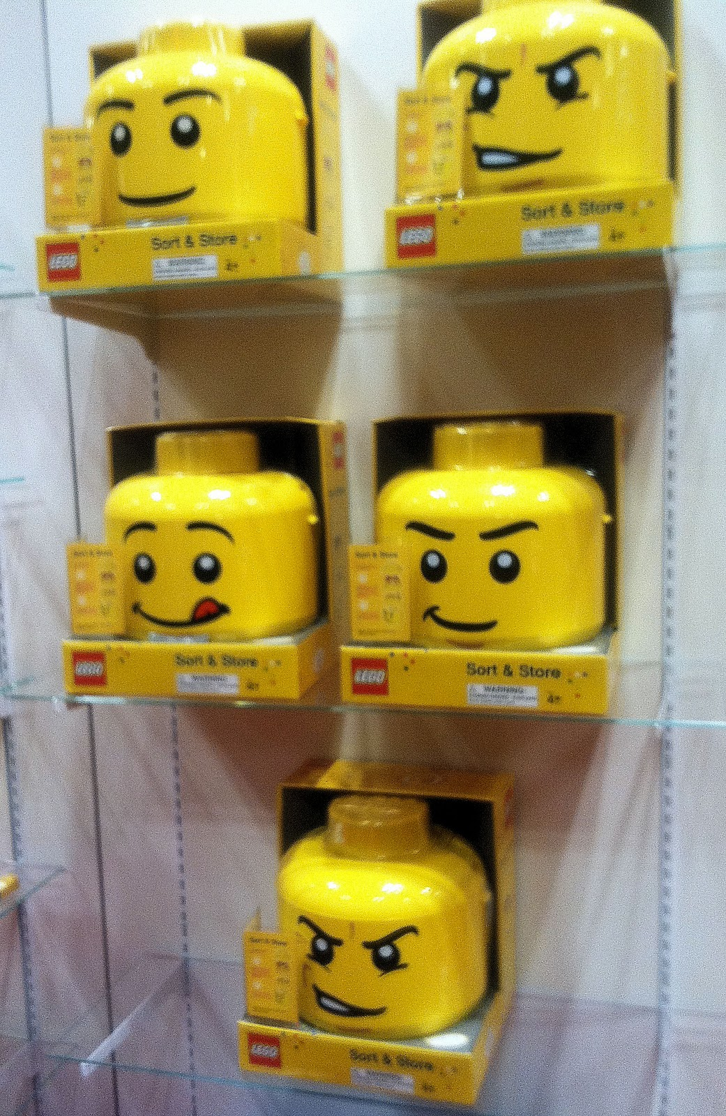 Lego Man Faces Lego sort and store heads