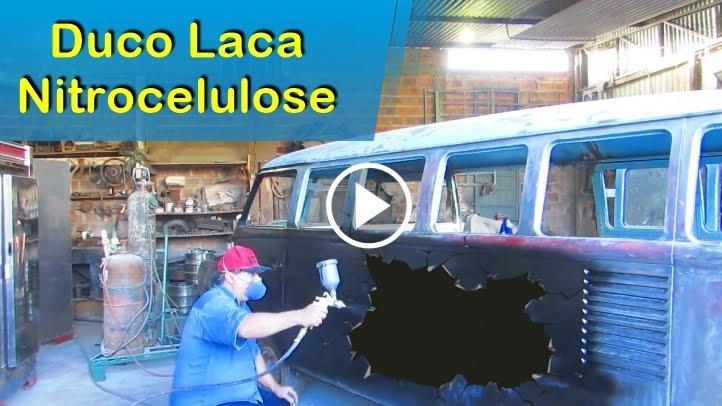 Duco Laca Nitrocelulose Reformando a Kombi Antiga 1966 - Restaurada Corujinha ® | parte 3 Autos™