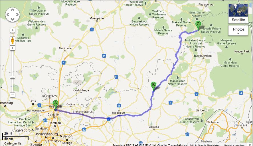 Directions: How to travel to GeM Bateleur Lodge, Hoedspruit | GeM ...