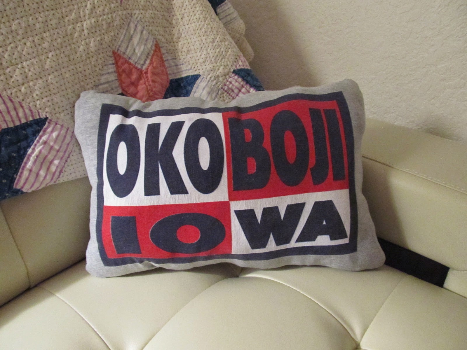 Okoboji, Iowa T-Shirt made into a Pillow