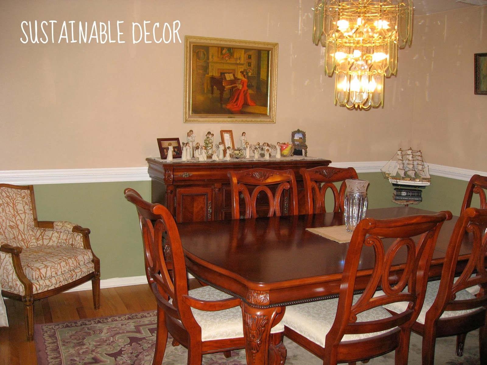 Sustainable Decor My Thrifted Dining Room