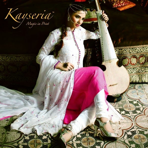 Rang-e-Mahrani White Eid Anarkali Dress