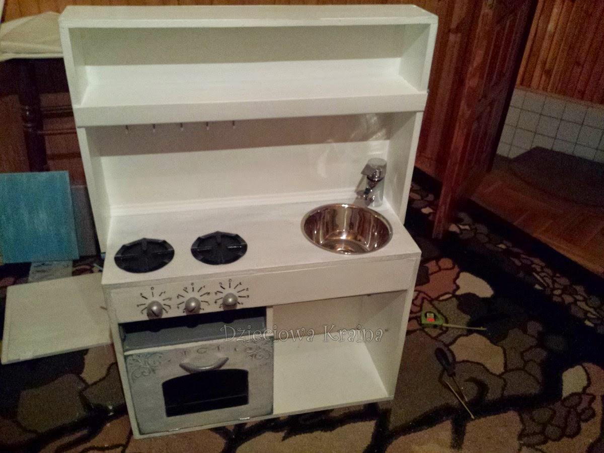 Dzieciowa Kraina Kuchnia dla dzieci DIY -> Kuchnia Drewniana Dla Dzieci Diy