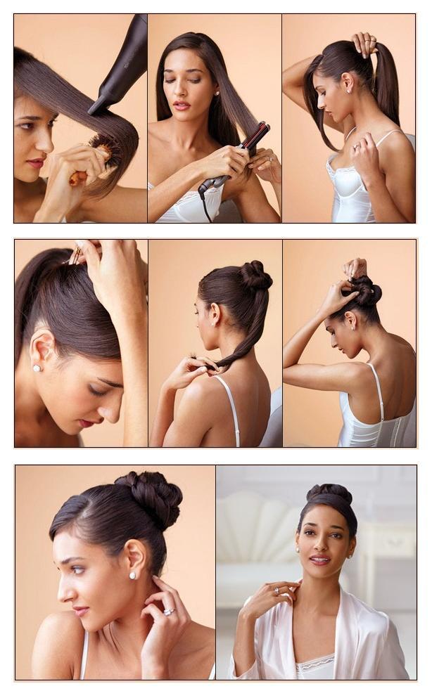 Как сделать красивую строгую прическу