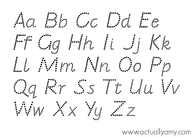 Writing Worksheets For 5 Year Olds : Actually amy alphabet tracing printable