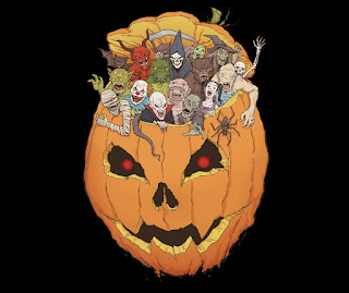 Halloween Monsters t-shirt at TeeFury