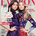 Elsa Hosk and Taylor Hill wear lace dresses for Fashion Magazine September 2015