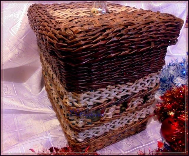 короб с японским плетением