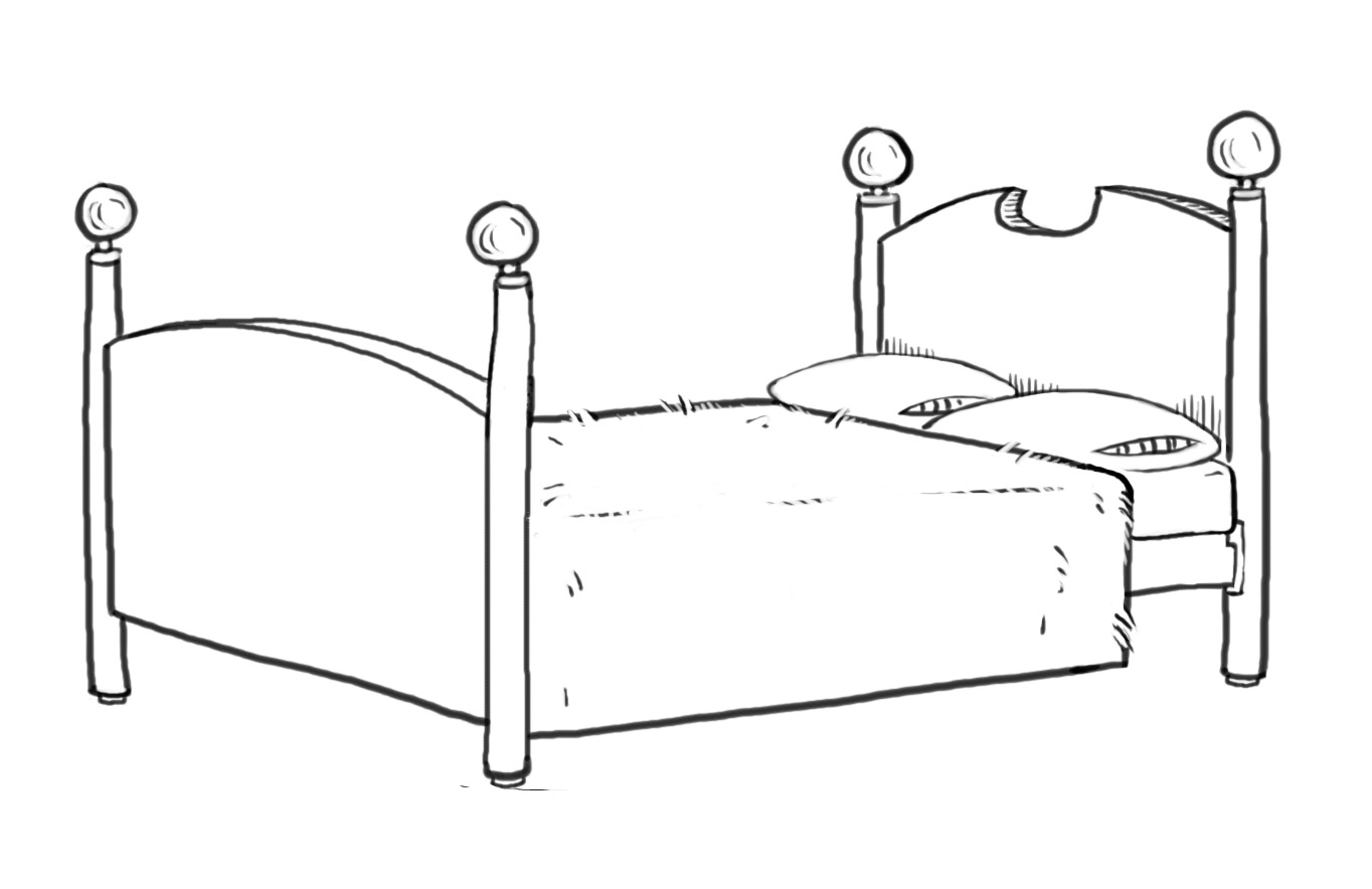 Drawing Line Quality : How to draw bed images learn a four