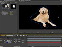 Separating Max from the Background in After Effects with a Linear Color Key.