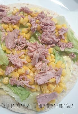Rezept Tortilla-Wraps mit Thunfisch, Mais und Salat