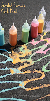 How to make scented sidewalk chalk paint with just three ingredients!