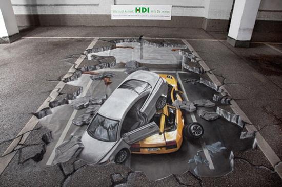 Vẽ 3D đường phố đẹp nhất - Ảo tung chảo