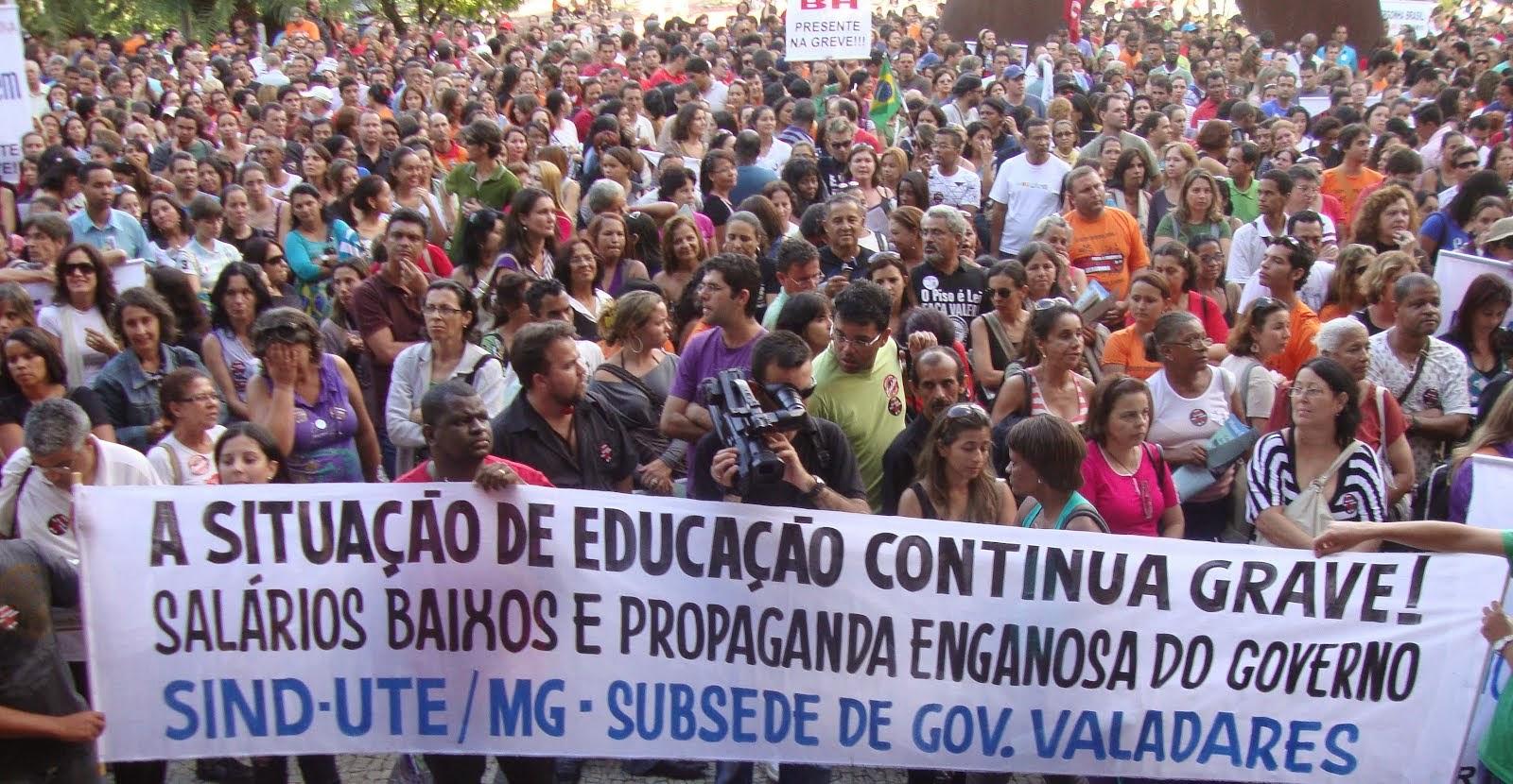 Governador Valadares presente nas greves.