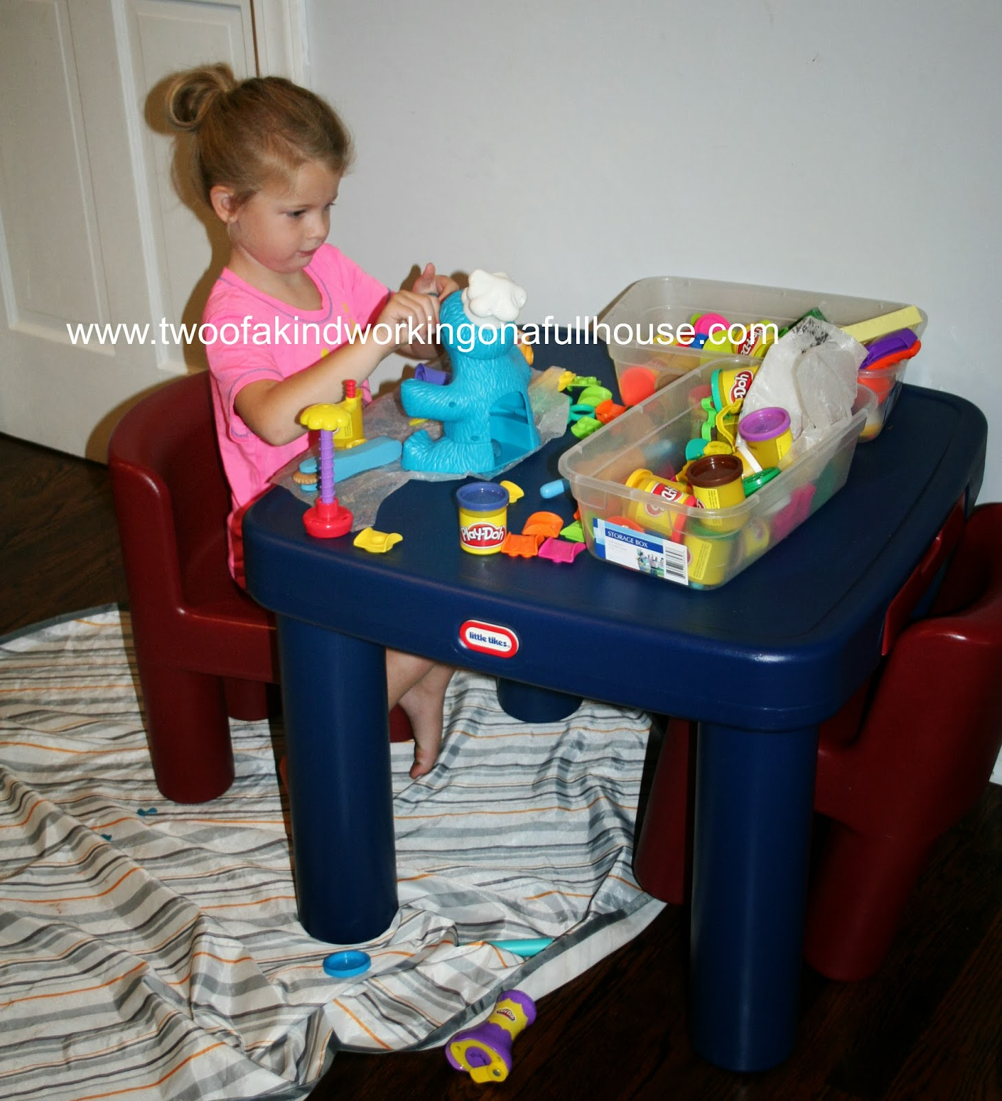 Little Tikes Large Table & Chairs Review + Giveaway | Two of a ...