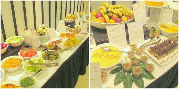 Mittagessen Buffet  - beautypress Blogger Event