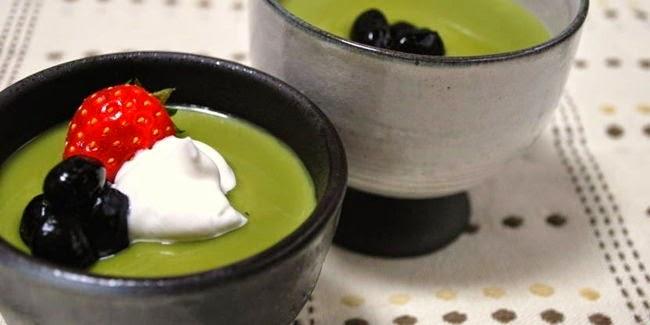 resep puding teh hijau pasti enak