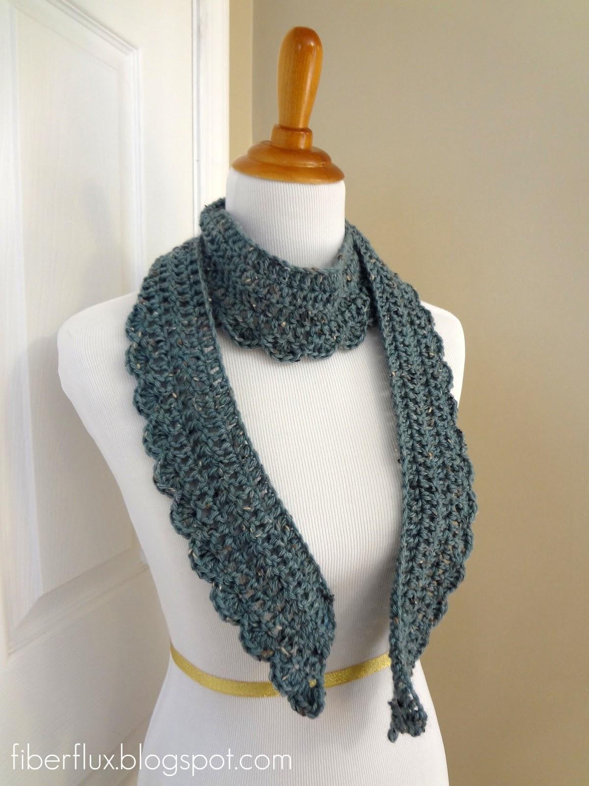 Free Crochet Pattern Scallop Scarf : Fiber Flux: Free Crochet Pattern...Ocean Air Scarf