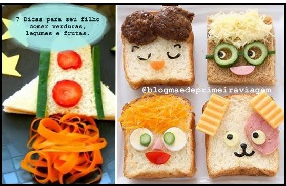 7 Dicas para seu filho comer verduras, legumes e frutas.