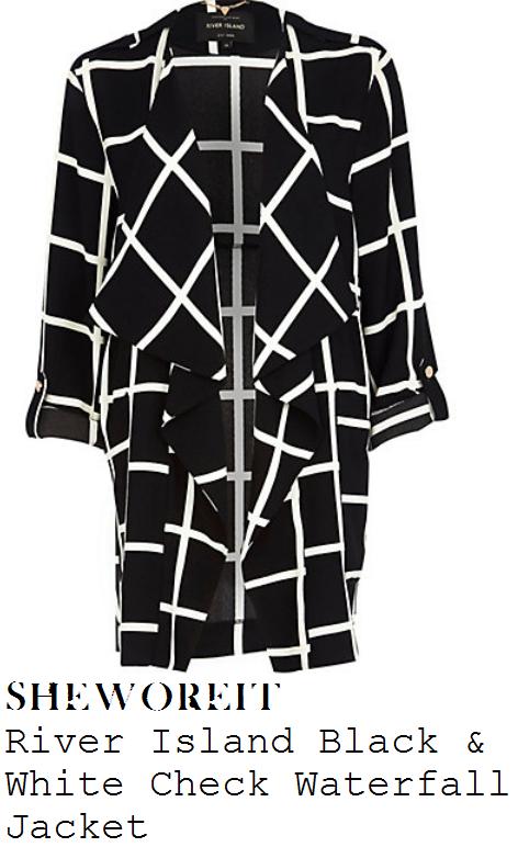 sarah-harding-black-and-white-monochrome-check-print-waterfall-jacket-lorraine