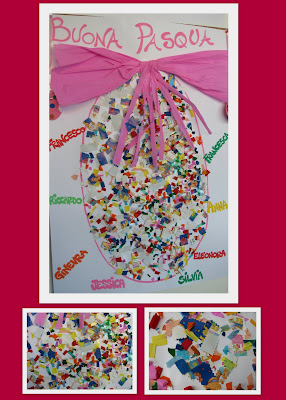photo of: Easter Egg craft, Reggio art project, Spring preschool art,