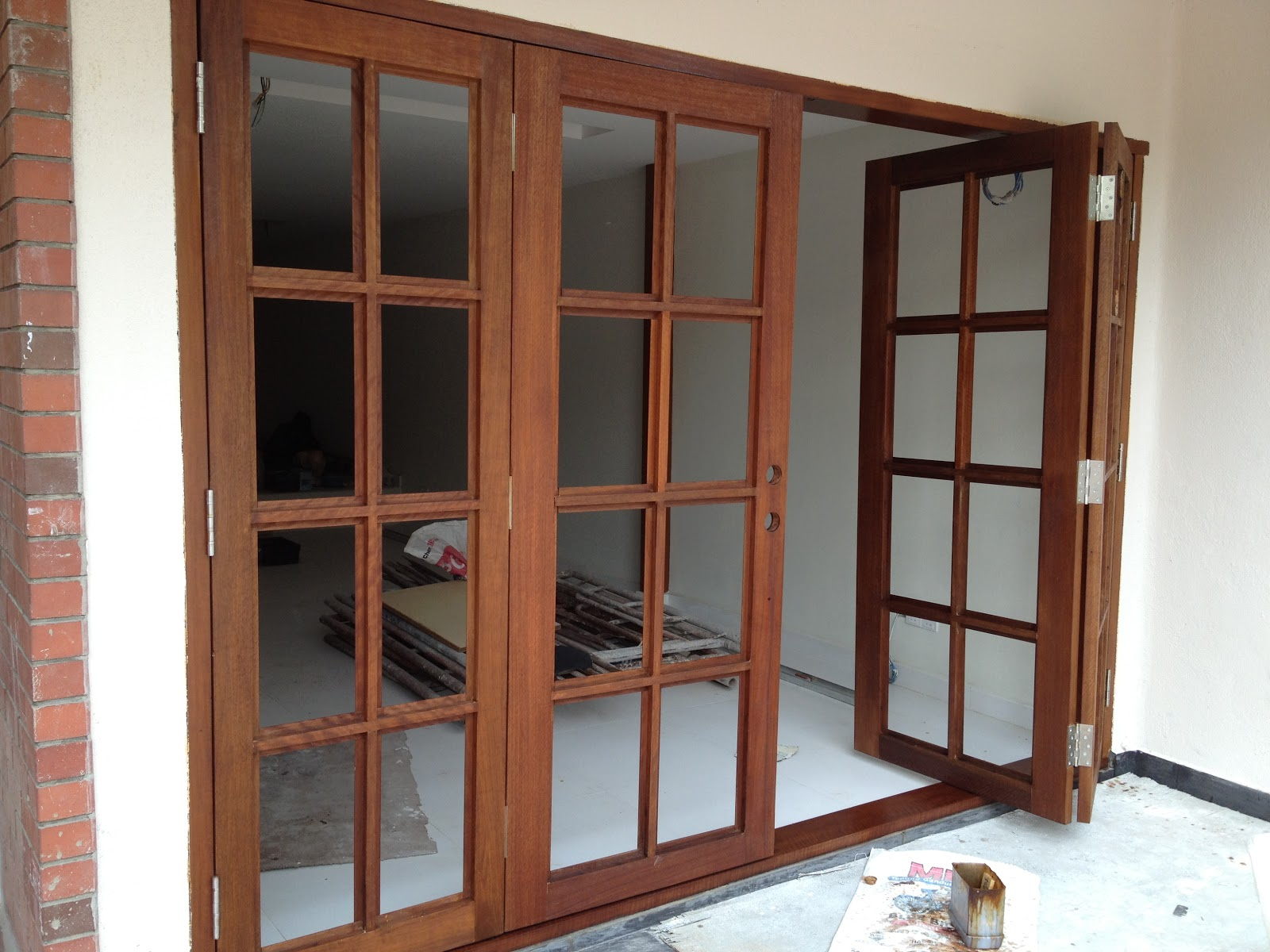 Our renovation adventures four panel doors for 4 panel french doors exterior
