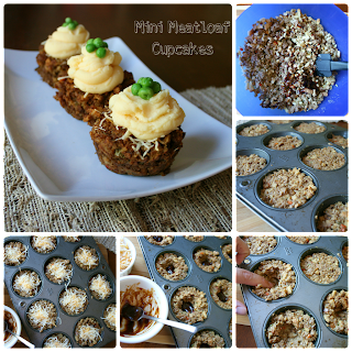 Mini Meatloaf Cupcakes (with vegetarian option ...