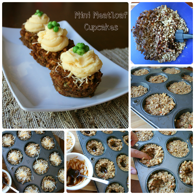 Mini Meatloaf Cupcakes (with vegetarian option) - Family Fresh Meals