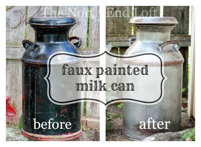 The north end loft rustic wedding milk can decor for Old milk can decorating ideas
