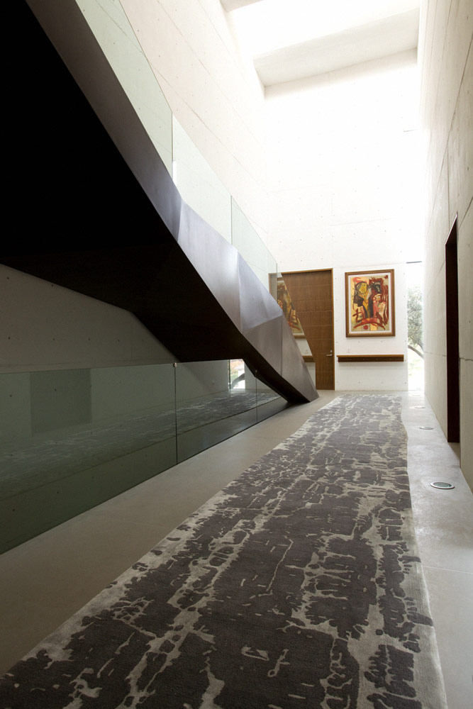 Hallway of Modern contemporary CT House in Mexico