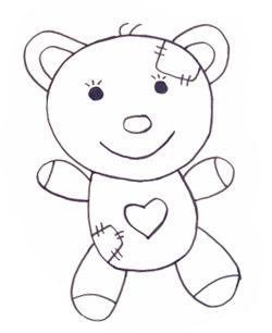 рисуем поэтапно мишку тедди