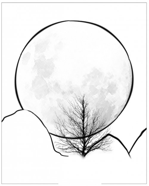 moons and stars coloring pages