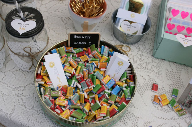 Nadia van der mescht market stand display ideas tips dont forget to have the name of your business on display as well as your business cards colourmoves