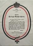 Officielle Kriegs-Nachrichten Nr. 187 vom 3. März 1871