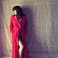 Christmas gift vintage velvet robe