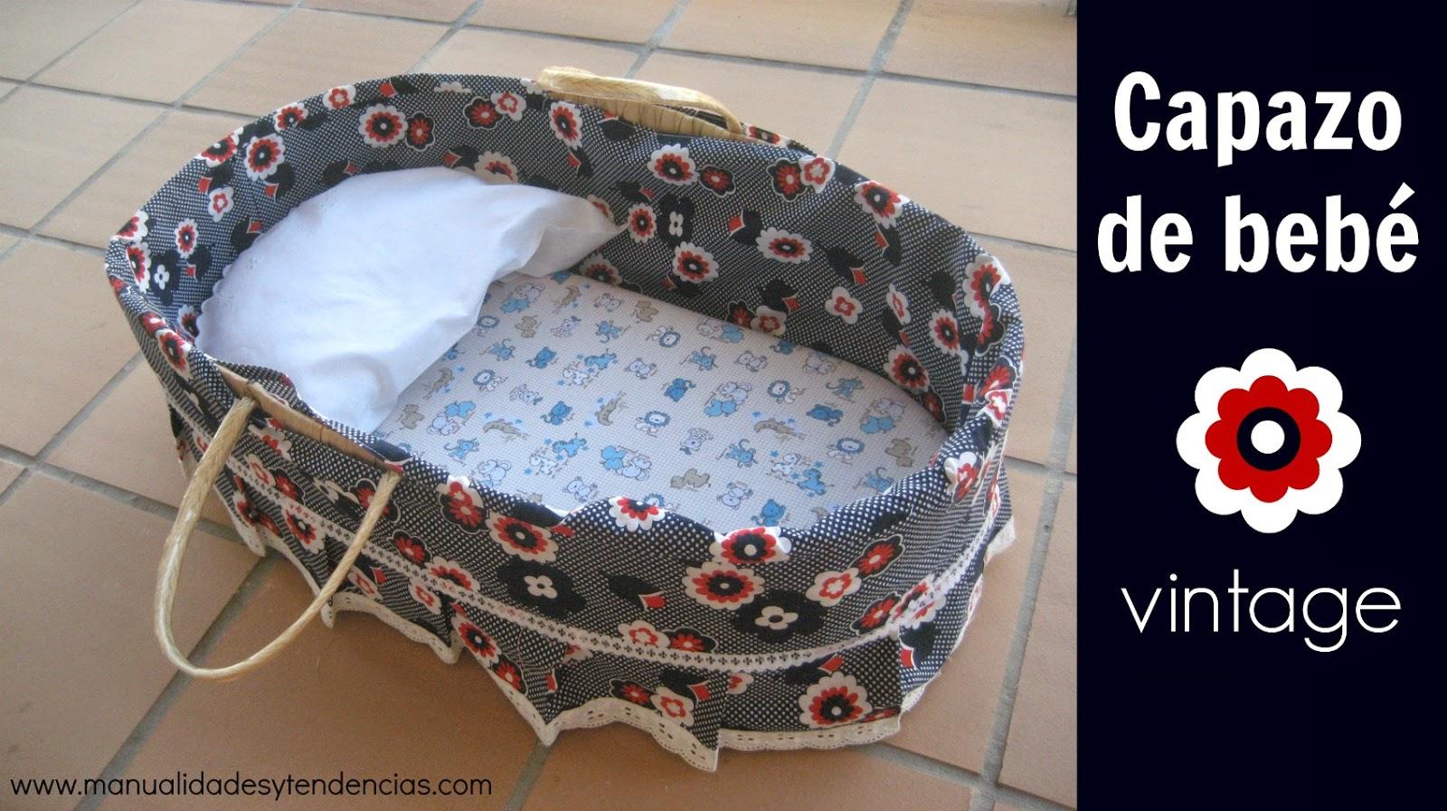 Capazo de bebé vintage
