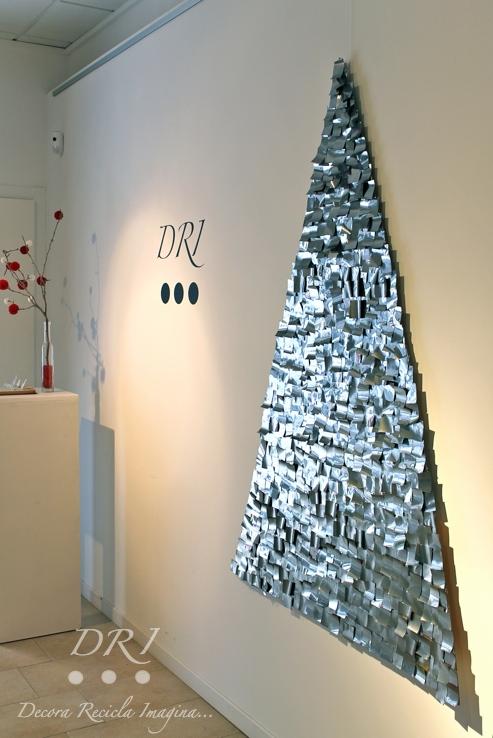 Arbol de Navidad Latas recicladas DRI