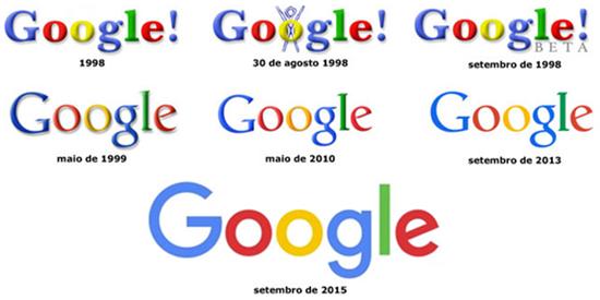 evolução da marca google