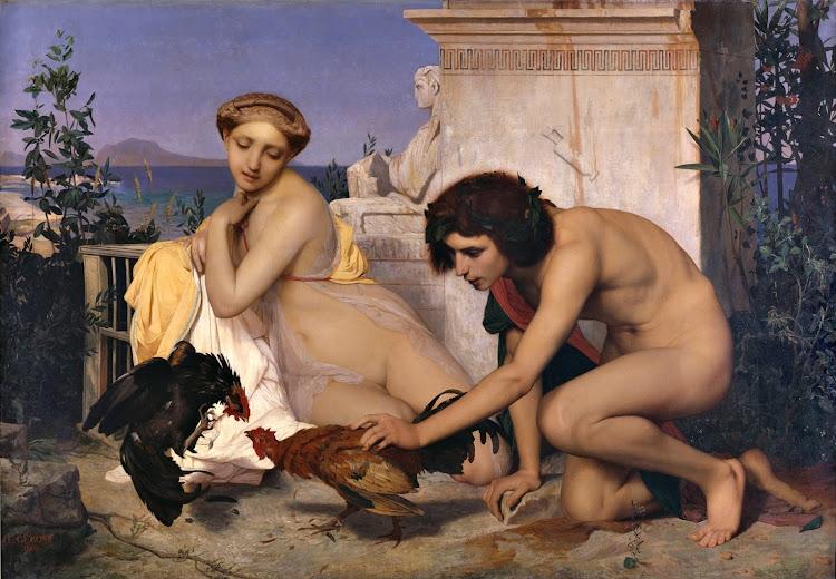 Jean-Léon Gérôme - Young Greeks Attending a Cock Fight