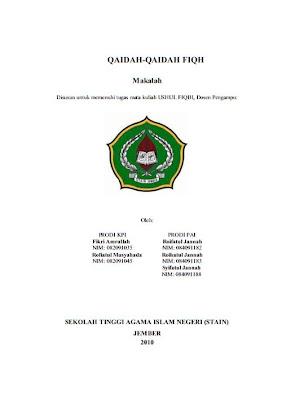 contoh cover makalah agama