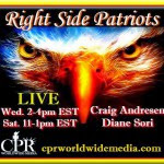 September 24, 2014: Christine Lakatos was live on RIGHT SIDE PATRIOTS on CPR Worldwide Media