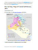 Detailed map of control in Iraq in late February 2015, including territory held by the Islamic State (ISIS, ISIL), the Baghdad government, and the Kurdistan Peshmerga. Includes recent flashpoints including Sinjar, Al Asad Airbase, Mosul, and Barwanah