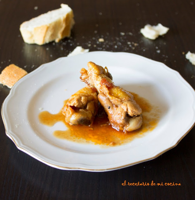 pollo a la miel, limón y soja
